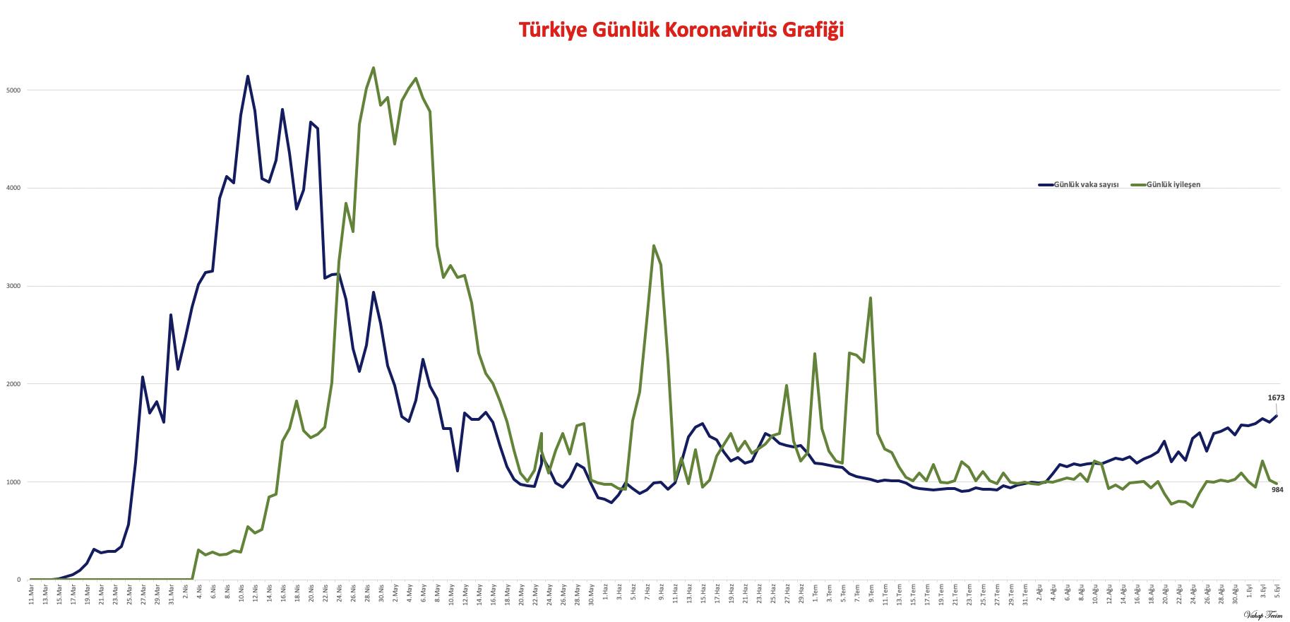 Günlük Korononavirüs Vaka Grafiği